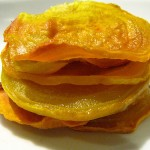 Golden beet chips by The Foodista