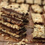 Peanut chocolate caramel crunch bars-- 17 and Baking