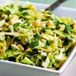 Spicy cilantro Peanut Slaw-Kalyn'sKitchen
