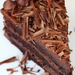 Plate- Lickingly Good Chocolate Cake from Zoe Bakes