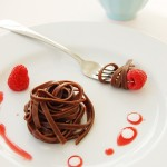 Chocolate pasta with raspberries from Taste Buddies