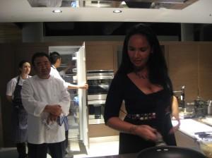 Bridget cooks for Tetsuya