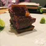 Wagyu beef with lime and wasabi
