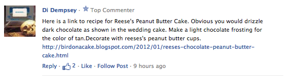 Screen Shot 2012 07 17 at 3.09.00 PM Everyone!...Welcome the Reeses Peanut Butter Cup Wedding Cake!