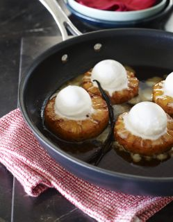 Roast Pineapple with Coconut Sorbet