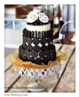 Oreo Cookie & Toblerone Wedding Cake
