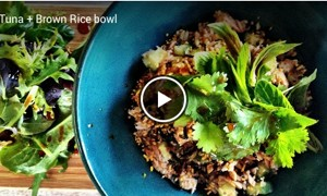 how to make tune and brown rice