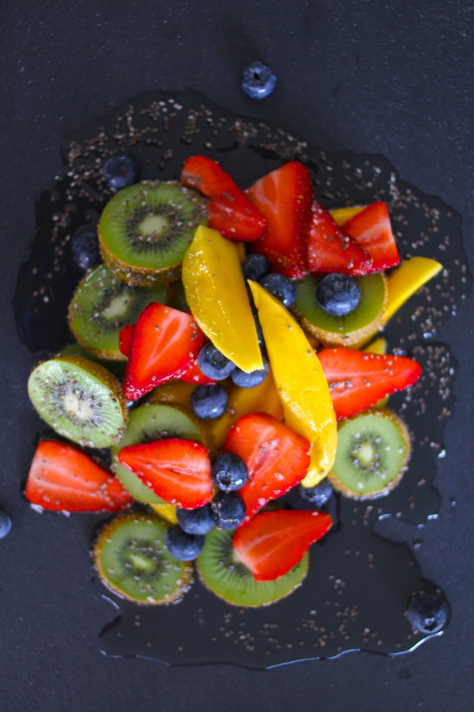 Mango kiwi and berry salad