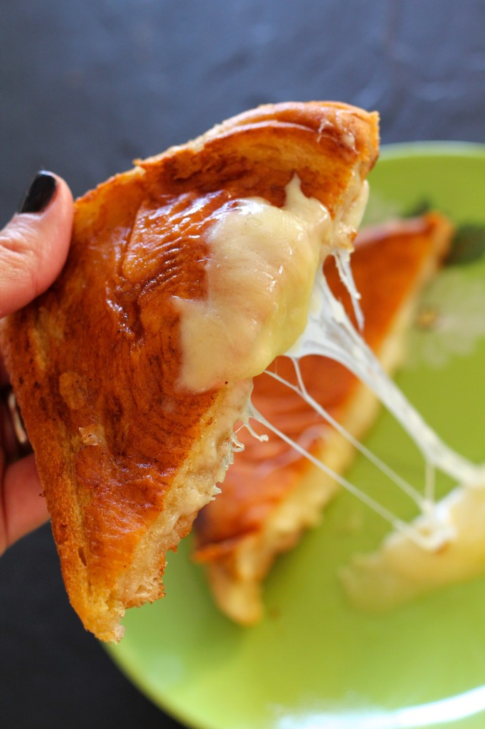 The ultimate inside out grilled cheese sandwich